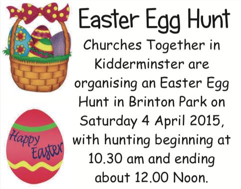 Brintons Park Easter Egg Hunt Aggborough Spennells